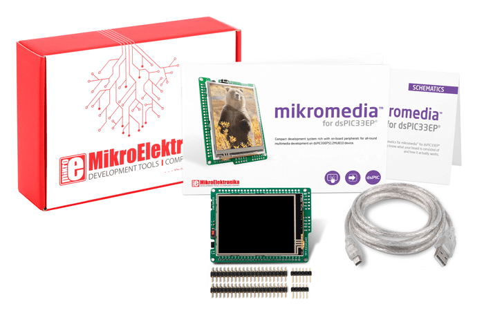 mikromedia for dsPIC33EP what is in box