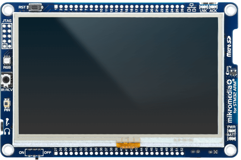mikromedia Plus for STM32 turn off