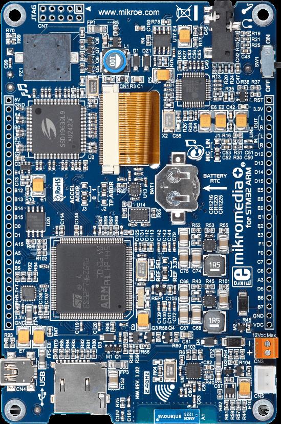 mikromedia Plus for STM32F7 ARM Cortex-M7 Development Board
